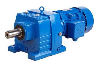 R series inline helical gear motor