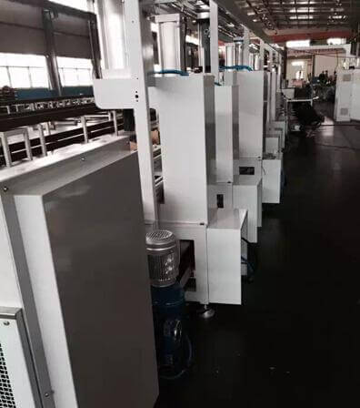 production line for worm gear assembly